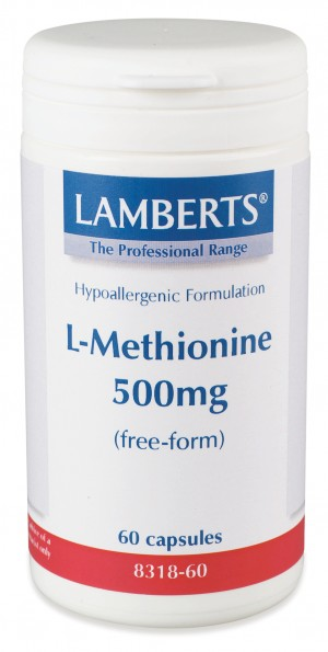 L-metionin 500mg (60 kapslar)